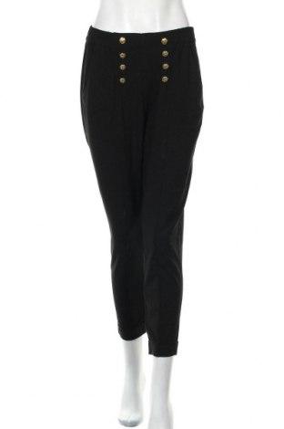 Дамски панталон Bershka, Размер M, Цвят Черен, 62% полиестер, 33% вискоза, 5% еластан, Цена 16,19лв.