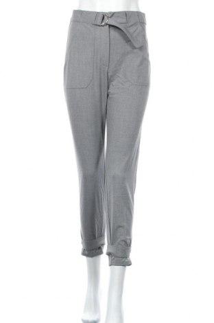 Дамски панталон Bershka, Размер S, Цвят Сив, 63% полиестер, 33% вискоза, 4% еластан, Цена 42,00лв.