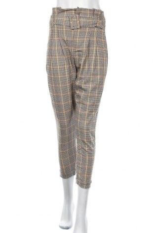 Дамски панталон Bershka, Размер S, Цвят Многоцветен, 62% полиестер, 33% вискоза, 5% еластан, Цена 44,25лв.