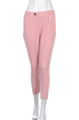 Дамски панталон Bershka, Размер S, Цвят Розов, 86% памук, 14% еластан, Цена 42,00лв.