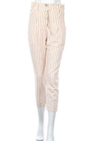Дамски панталон Bershka, Размер S, Цвят Екрю, Памук, Цена 42,00лв.