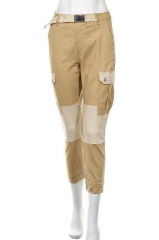 Дамски панталон Bershka, Размер S, Цвят Бежов, 98% памук, 2% еластан, Цена 18,70лв.