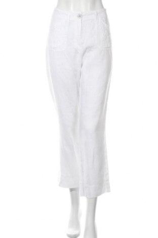 Дамски панталон Bexleys, Размер M, Цвят Бял, Лен, Цена 7,61лв.