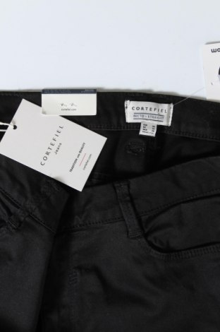 Дамски панталон Cortefiel, Размер M, Цвят Черен, 98% памук, 2% еластан, Цена 11,70лв.