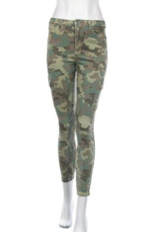 Дамски панталон Lefties, Размер S, Цвят Зелен, 98% памук, 2% еластан, Цена 20,10лв.