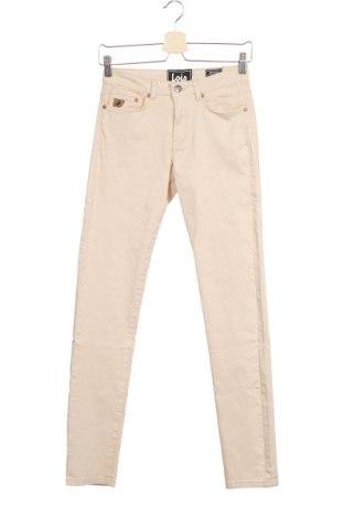 Дамски панталон Lois, Размер XS, Цвят Бежов, 97% памук, 3% еластан, Цена 27,37лв.