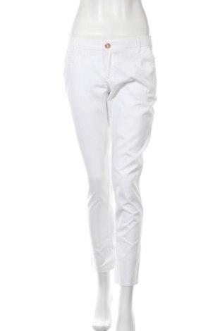 Дамски панталон Mango, Размер S, Цвят Бял, Памук, Цена 7,88лв.