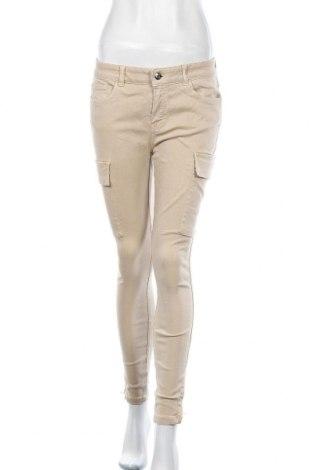 Дамски панталон Massimo Dutti, Размер M, Цвят Бежов, 61% памук, 36% лиосел, 3% еластан, Цена 11,02лв.