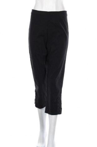 Дамски панталон RJR John Rocha, Размер M, Цвят Черен, 73% вискоза, 23% полиамид, 4% еластан, Цена 20,48лв.