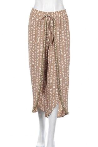 Дамски панталон Rockmans, Размер S, Цвят Кафяв, Полиестер, еластан, Цена 9,44лв.