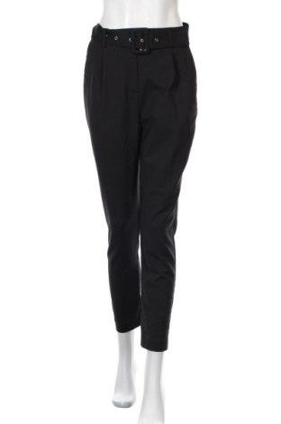 Дамски панталон Selected Femme, Размер S, Цвят Черен, 52% памук, 45% полиестер, 3% еластан, Цена 17,74лв.