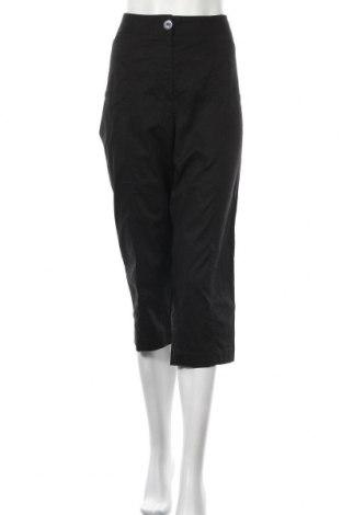 Дамски панталон Susan Graver, Размер L, Цвят Черен, 97% памук, 3% еластан, Цена 3,01лв.