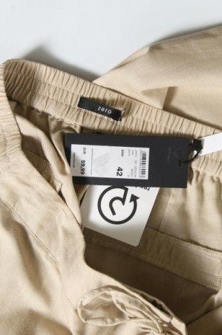 Дамски панталон Zero, Размер L, Цвят Бежов, 55% лен, 45% памук, Цена 8,32лв.