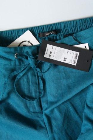 Дамски панталон Zero, Размер XS, Цвят Син, 55% лен, 45% памук, Цена 11,85лв.
