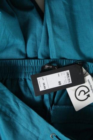 Дамски панталон Zero, Размер L, Цвят Син, 55% лен, 45% памук, Цена 11,85лв.