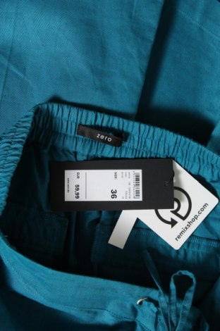 Дамски панталон Zero, Размер S, Цвят Син, 55% лен, 45% памук, Цена 11,85лв.