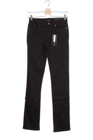 Дамски панталон Zero, Размер XS, Цвят Черен, 66% памук, 31% полиестер, 3% еластан, Цена 8,26лв.