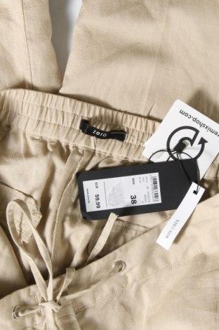 Дамски панталон Zero, Размер M, Цвят Бежов, 55% лен, 45% памук, Цена 8,32лв.