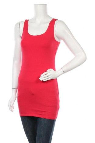 Γυναικείο αμάνικο μπλουζάκι H&M Divided, Μέγεθος S, Χρώμα Κόκκινο, 95% βαμβάκι, 5% ελαστάνη, Τιμή 8,44€