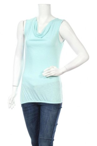 Γυναικείο αμάνικο μπλουζάκι Zero, Μέγεθος S, Χρώμα Μπλέ, 50% βισκόζη, 50% πολυεστέρας, Τιμή 2,50€