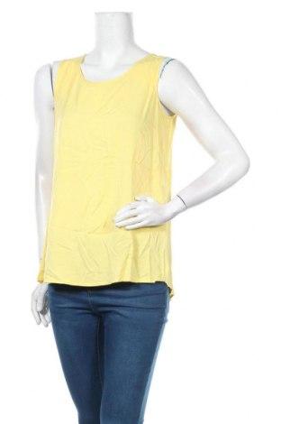 Γυναικείο αμάνικο μπλουζάκι Zero, Μέγεθος XS, Χρώμα Κίτρινο, Βισκόζη, Τιμή 2,50€