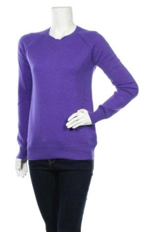 Дамски пуловер Authentic Cashmere, Размер M, Цвят Лилав, Кашмир, Цена 85,05лв.