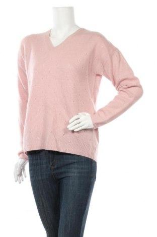 Дамски пуловер Authentic Cashmere, Размер M, Цвят Розов, Кашмир, Цена 85,05лв.