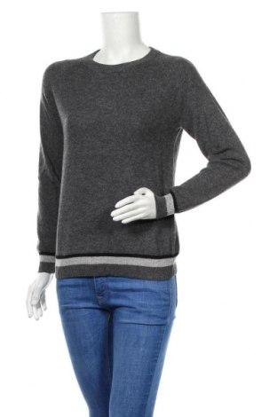 Дамски пуловер Authentic Cashmere, Размер M, Цвят Сив, 100% кашмир, Цена 62,37лв.