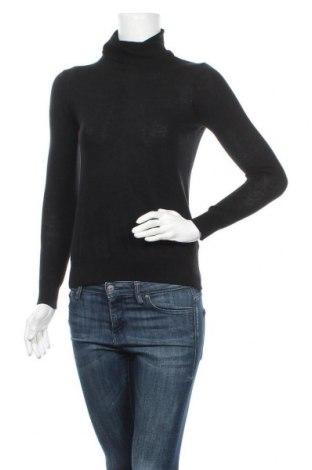 Дамски пуловер Massimo Dutti, Размер XS, Цвят Черен, 55% коприна, 45% вълна, Цена 27,25лв.