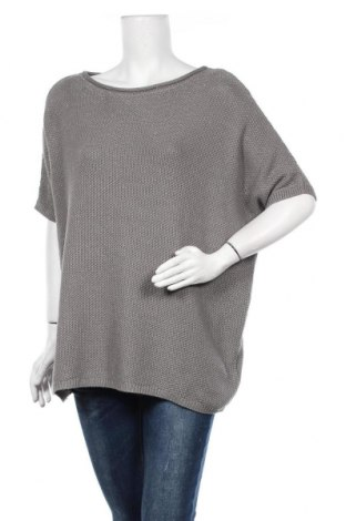 Дамски пуловер Monari, Размер XL, Цвят Сив, 48% памук, 48% полиамид, 2% метални нишки, Цена 41,58лв.