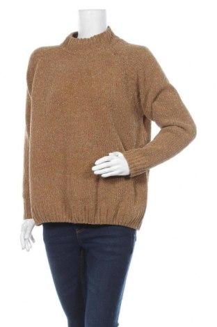 Дамски пуловер Vrs Woman, Размер L, Цвят Кафяв, 69% полиамид, 15% акрил, 16% полиестер, Цена 9,26лв.
