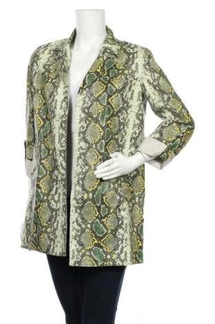 Дамско кожено яке Bershka, Размер S, Цвят Многоцветен, Еко кожа, Цена 31,74лв.