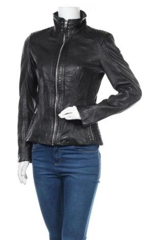 Дамско кожено яке Cabrini, Размер S, Цвят Черен, Естествена кожа, Цена 132,82лв.