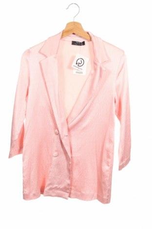 Γυναικείο σακάκι Bershka, Μέγεθος XS, Χρώμα Ρόζ , 86% βισκόζη, 12% πολυεστέρας, 2% ελαστάνη, Τιμή 21,65€