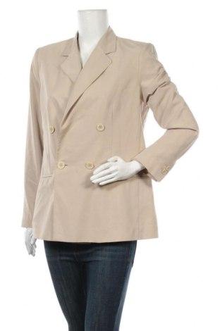 Γυναικείο σακάκι Mango, Μέγεθος L, Χρώμα  Μπέζ, 70% μοντάλ, 30% πολυεστέρας, Τιμή 34,41€