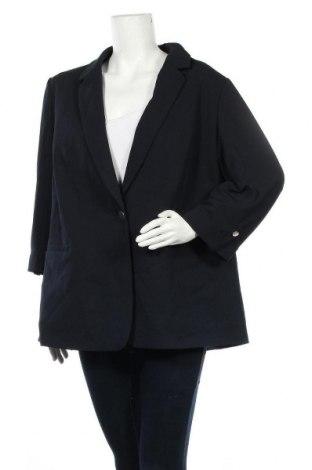 Дамско сако Violeta by Mango, Размер XXL, Цвят Син, 93% полиестер, 7% еластан, Цена 21,42лв.