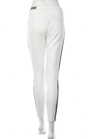Дамско спортно долнище Bershka, Размер S, Цвят Бял, 67% памук, 33% полиестер, Цена 18,92лв.