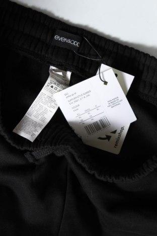Дамско спортно долнище Even&Odd, Размер XL, Цвят Черен, 50% памук, 50% полиестер, Цена 24,64лв.