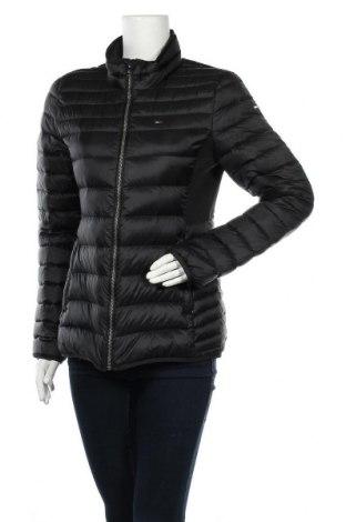 Γυναικείο μπουφάν Tommy Hilfiger, Μέγεθος L, Χρώμα Μαύρο, Πολυεστέρας, φτερά και πούπουλα, Τιμή 143,81€