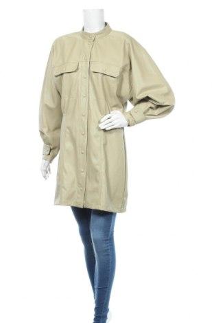 Дамско кожено яке Zara, Размер XL, Цвят Зелен, Еко кожа, Цена 16,28лв.