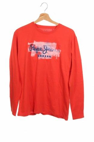 Παιδική μπλούζα Pepe Jeans, Μέγεθος 15-18y/ 170-176 εκ., Χρώμα Κόκκινο, Βαμβάκι, Τιμή 26,68€
