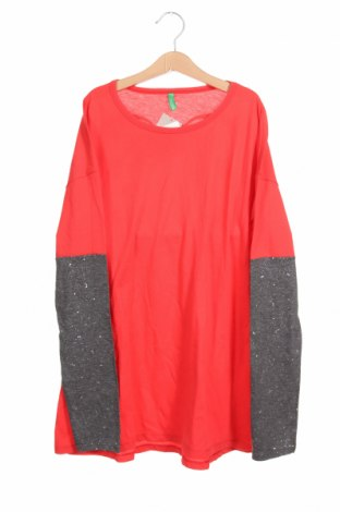 Παιδική μπλούζα United Colors Of Benetton, Μέγεθος 14-15y/ 168-170 εκ., Χρώμα Κόκκινο, 50% βαμβάκι, 50% πολυεστέρας, Τιμή 14,69€