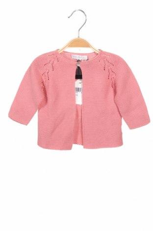 Pulover cu nasturi pentru copii Fina Ejerique, Mărime 3-6m/ 62-68 cm, Culoare Roz, Bumbac, Preț 120,89 Lei