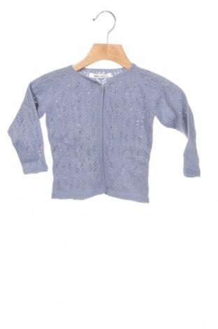 Pulover cu nasturi pentru copii Little Celebs, Mărime 9-12m/ 74-80 cm, Culoare Albastru, Acrilic, Preț 38,82 Lei