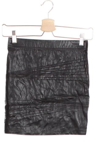 Детска кожена пола Bardot, Размер 11-12y/ 152-158 см, Цвят Черен, Еко кожа, полиестер, Цена 3,00лв.