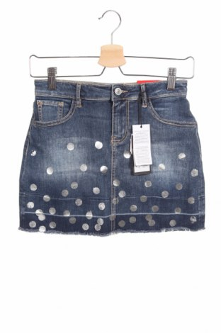 Παιδική φούστα Guess, Μέγεθος 12-13y/ 158-164 εκ., Χρώμα Μπλέ, 92% βαμβάκι, 6% πολυεστέρας, 2% ελαστάνη, Τιμή 30,54€