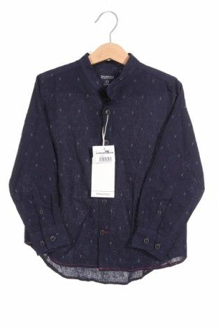 Παιδικό πουκάμισο Springfield, Μέγεθος 4-5y/ 110-116 εκ., Χρώμα Μπλέ, 55% λινό, 45% βαμβάκι, Τιμή 16,24€