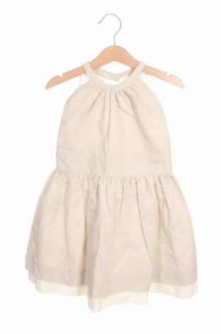 Παιδικό φόρεμα Neck & Neck, Μέγεθος 4-5y/ 110-116 εκ., Χρώμα  Μπέζ, 55% λινό, 45% βαμβάκι, Τιμή 24,74€