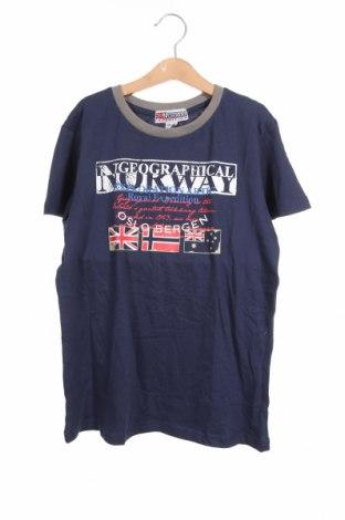 Παιδικό μπλουζάκι Geographical Norway, Μέγεθος 13-14y/ 164-168 εκ., Χρώμα Μπλέ, Βαμβάκι, Τιμή 12,80€