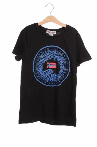 Παιδικό μπλουζάκι Geographical Norway, Μέγεθος 13-14y/ 164-168 εκ., Χρώμα Μαύρο, Βαμβάκι, Τιμή 14,67€